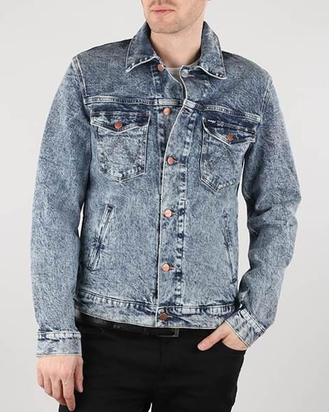 Wrangler  Bunda Wrangler Regular Jacket Glace Blue Modrá