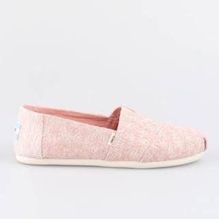 Topánky Toms Pink Glitter Daisy Wm Alpr Esp Růžová