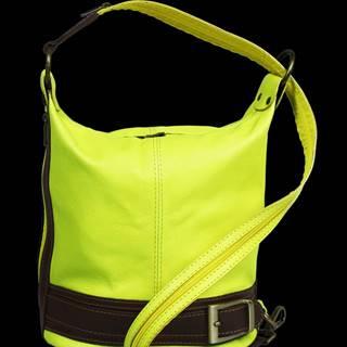 kožená kabelka cez rameno dámska Adele Gialla Fluorescenza