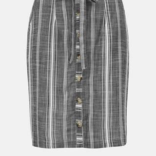 M&Co Petite Šedá pruhovaná sukňa M&Co Petite Thru