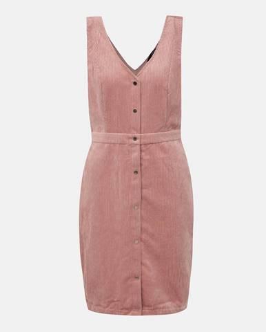 Rúžové menčestrové šaty VERO MODA Ayoe
