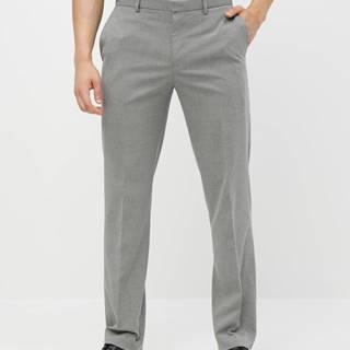 Sivé oblekové tailored fit nohavice Burton Menswear London
