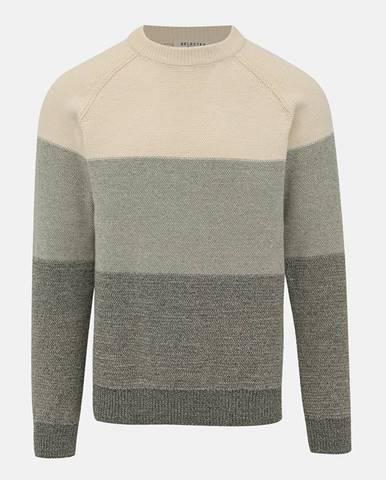 Zeleno-krémový sveter Selected Homme Janus