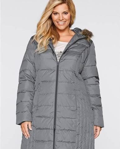 Ľahký prešívaný kabát s páperím