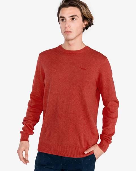 Pepe jeans  Barons Svetr Pepe Jeans Červená