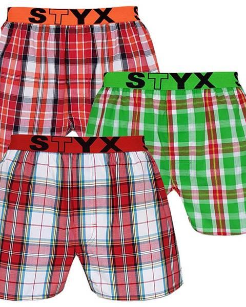Styx 3PACK pánske trenírky Styx športový guma viacfarebné