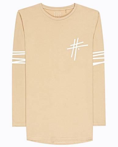 Tričko so zaobleným spodným lemom