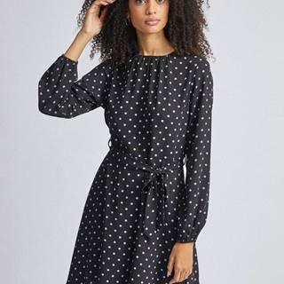 Dorothy Perkins Čierne bodkované šaty Dorothy Perkins