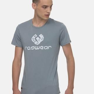 Šedé pánske tričko s potlačou Ragwear Charles