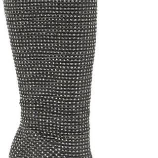 Star Collection - Čierne trblietavé čižmy Rita Ora