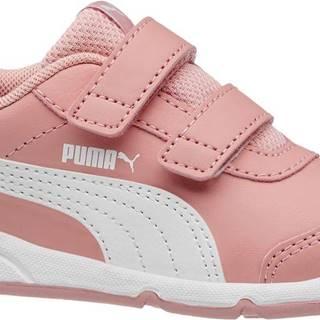 Puma - Ružové tenisky na suchý zips Stepfleex