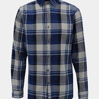 Šedo-modrá kockovaná košeľa ONLY & SONS Say