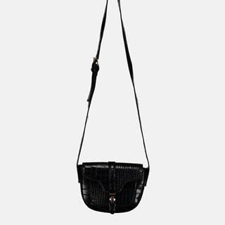 Čierna crossbody kabelka s krokodýlím vzorom Haily´s Elisa
