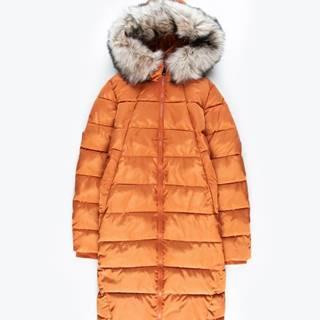 Prešívaná vatovaná bunda s odopínateľnou umelou kožušinou