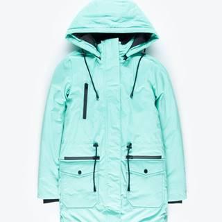 Vodovzdorná vatovaná bunda s kapucňou