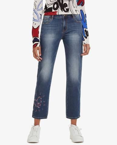 Desigual Sanford Jeans Modrá